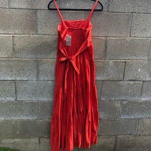 Anthropologie Dresses - ANTHROPOLOGIE EDME & ESYLLTE Orange Maxi Dress SZ2
